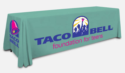 A Taco Bell Table Throw Cover