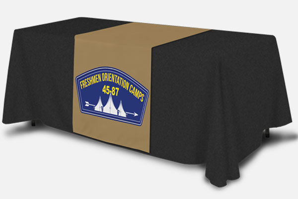 Table Runner with Freshman Orientation Camps Logo