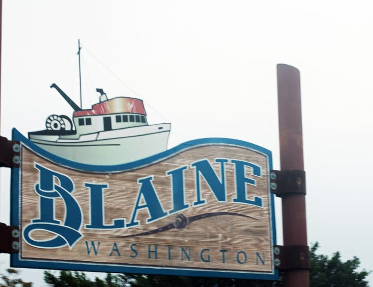 Blaine, Washington Signage in Blaine, 98230