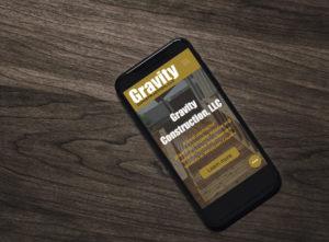 Spoken Designs Gravity Construction Website Design