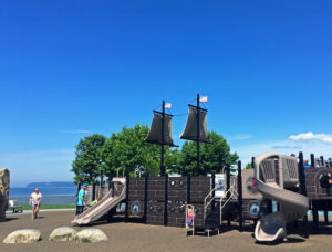 The kids park at the Blaine Marine Park