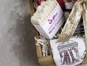 Soap labels of Minty Calendula