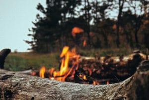 Campfire at Semiahmoo Spit