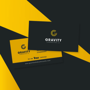 Bellingham Graphic Designer Spoken Designs for Gravity Construction LLC.