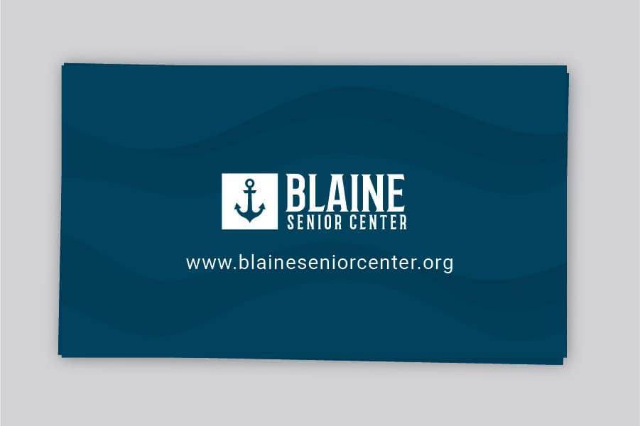 Marketing and Website Package, Blaine website designer business cards for Blaine Senior Center by Spoken Designs