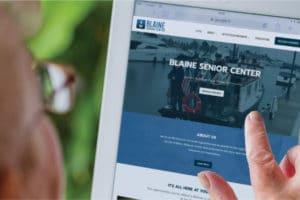 Marketing and Website Package, Bellingham Wa website designer SEO optimized website for Blaine Senior Center by Spoken Designs