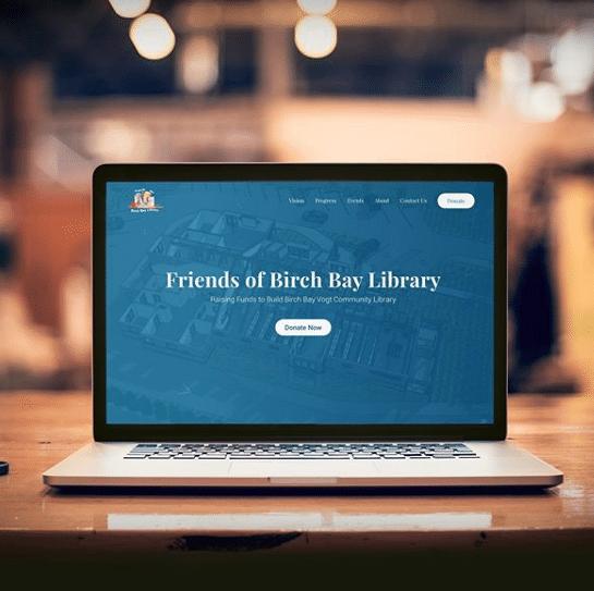 Friends of Birch Bay Library Website Designer Spoken Designs