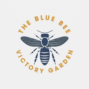 Logo Design for The Blue Bee Victory Garden Logo
