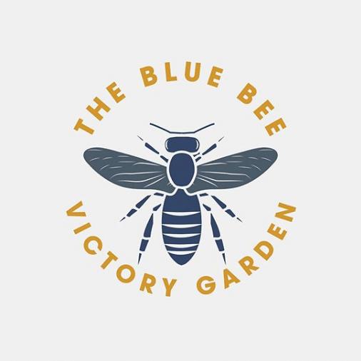 Logo Design for The Blue Bee Victory Garden Logo
