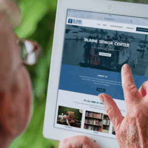 Marketing optimized website for Blaine Senior Center by Spoken Designs