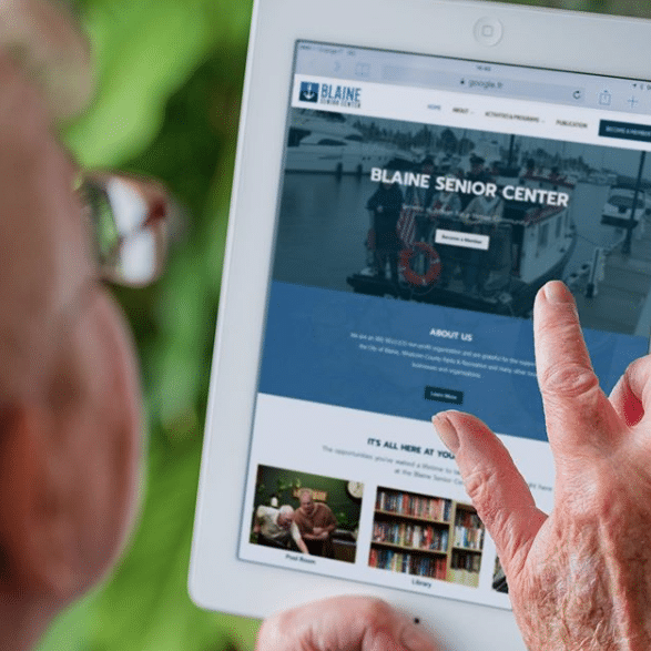 Marketing optimized website for Blaine Senior Center by Spoken Designs