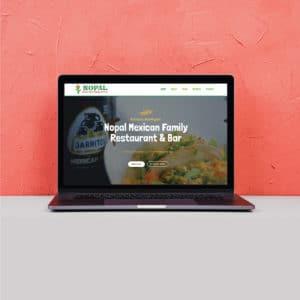 Nopal Mexican Restaurant Designed Website